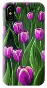 Purple Tulip Field IPhone Case