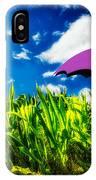 Purple Umbrella In A Field Of Corn IPhone Case