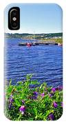 Purple Vetch Overlooking Rocky Harbour-nl IPhone Case