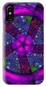 Purple Wheel Vortex IPhone Case