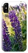 Purple Wildlfowers IPhone Case