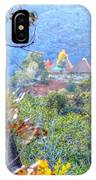 Pyramid Houses In Fall Watercolors IPhone Case