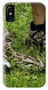 Python Snake In The Grass And Running Shoes IPhone Case