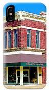 Quartzsite Building Built In 1884 In Pipestone-minnesota IPhone Case
