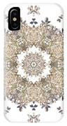 Queen Annes Lace I Flower Mandala White IPhone Case