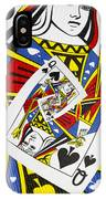Queen Of Spades Collage IPhone Case