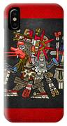 Quetzalcoatl In Human Warrior Form - Codex Borgia IPhone Case