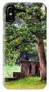 Quiet Park Corner. De Haar Castle IPhone Case
