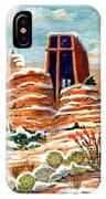 Quiet Snowfall  Sedona  Arizona IPhone Case