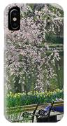 Quiet Time Among The Cherry Blossoms IPhone Case