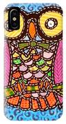 Quilted Judge Owl IPhone Case