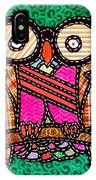 Quilted Mr Owl Esquire IPhone Case