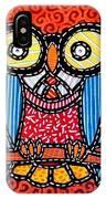 Quilted Professor Owl IPhone Case