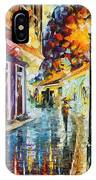Quito Ecuador - Palette Knife Oil Painting On Canvas By Leonid Afremov IPhone Case