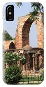 Qutab Minar Ruins IPhone Case