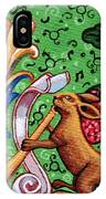 Rabbit Plays The Flute IPhone Case