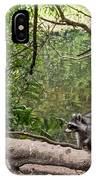 Raccoon At The Lake IPhone Case