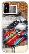 Raccoon On The Wall IPhone Case