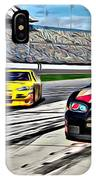 Race Car Track View IPhone Case