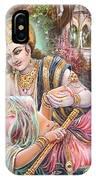 Radha Krishna Oil Canvas Painting IPhone Case