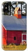 Radiant Red Barn IPhone Case