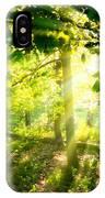 Radiant Sunlight Through The Trees IPhone Case