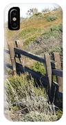 Rail Fence Black IPhone Case