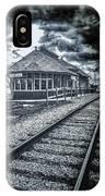 Railroad Ties Marlette Michigan IPhone Case