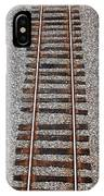 Railroad Track With Gravel Bed IPhone Case