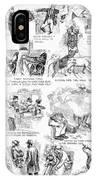 Railroading Cartoon, 1873 IPhone Case