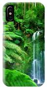 Rain Forest And Waterfall IPhone Case