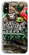 Rain Forest Cafe Signage Walt Disney World IPhone Case