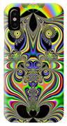 Rainbow Alien Owls Fractal 57 IPhone Case