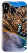 Rainbow At The Grand Canyon Yellowstone National Park IPhone Case
