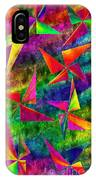 Rainbow Bliss - Pin Wheels - Painterly - Abstract - V IPhone Case
