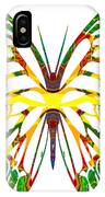 Rainbow Butterfly Abstract Nature Artwork IPhone Case