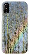 Rainbow Hiding Behind The Trees IPhone Case