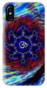 Rainbow Om Fractal Swirl IPhone Case