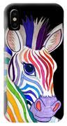 Rainbow Striped Zebra 2 IPhone Case