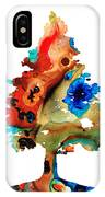 Rainbow Tree 2 - Colorful Abstract Tree Landscape Art IPhone Case