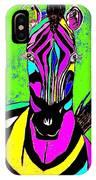 Rainbow Zebra 2 Abstract IPhone Case