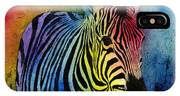Rainbow Zebra IPhone X Case