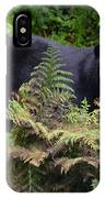 Rainforest Black Bear IPhone Case