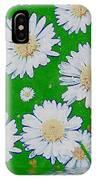 Raining White Flower Power IPhone Case