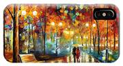 Rain's Rustle 2 - Palette Knife Oil Painting On Canvas By Leonid Afremov IPhone Case