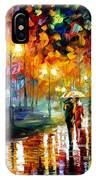 Rain's Rustle - Palette Knife Oil Painting On Canvas By Leonid Afremov IPhone Case