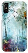 Rainy Day - Palette Knife Oil Painting On Canvas By Leonid Afremov IPhone Case