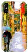 Rainy Walk In Venice IPhone Case