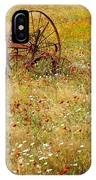 Ranch And Wildflowers And Old Implement 2am-110546 IPhone Case