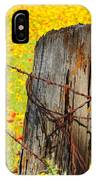 Ranch Wildflowers And Fence 2am-110532 IPhone Case